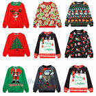 UGLY XMAS CHRISTMAS SWEATER Vacation Santa Elf Novelty Women Men Sweatshirt New