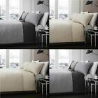Harrison 100% Cotton Duvet Cover Bedding Set with Solid Design - Natural Gray