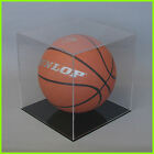BASKETBALL DISPLAY CASE CLEAR acrylic Perspex BLACK/ WHITE