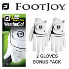 FOOTJOY WEATHERSOF 2 GLOVE VALUE PACK **2 GLOVES** WHITE