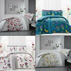 Colourful Flower Bouquets Duvet Cover Set - Reversible - Pink Blue Red Yellow