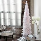 White 9' Pencil Thin Pre-Lighted Artificial Christmas Tree Home Holiday Living