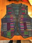 Vitnage VEST Guatemala Mexican Colorful Patchwork Hippie Boho Mens Womens