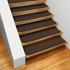 Set of 15 SKID-RESISTANT Carpet Stair Treads - Many Colors & Sizes