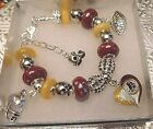 NFL WASHINGTON REDSKINS Crystal Charm Bracelet  KIRK COUSINS  FREE SHIPPING!!! on eBay