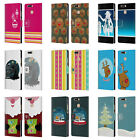 HEAD CASE MIX CHRISTMAS COLLECTION LEATHER BOOK CASE FOR HUAWEI HONOR 8 PRO