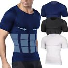 Men Body Shaper Tummy Belly Slimming Undershirt Compression Shapewear Shirt