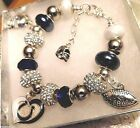 NFL INDIANAPOLIS COLTS Crystal Team Charm Bracelet FREE SHIPPING! on eBay