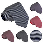 New DQT Premium Knitted Pin Stripe Casual Formal Men's Slim Tie