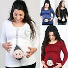 Maternity T Shirt Cute Funny Womens Pregnant tshirt Baby Shower Gift Top Cartoon