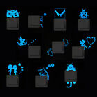 Blue-light Luminous Glowing Cartoon Switch Vinyl Sticker Bedroom Decor Removable