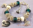 NFL PHILADELPHIA EAGLES Crystal Team European Charm Bracelet  FREE SHIPPING!!!