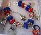 MLB World Series 2016 CHICAGO CUBS Ultimate Crystal Charm Bracelet FREE SHIPPING