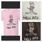 Lil Peep T-shirt Bart Simpson  Hell Boy Tee T Shirt New Concert / Pink or White