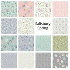 PATCHWORK/CRAFT FABRIC FAT QTR'S LEWIS & IRENE - SALISBURY SPRING  15 DESIGNS