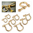 2PCS S/M/L/XL Brass D Shackle Joint Clasp for Keyring Key Loop Fastener Clip DIY