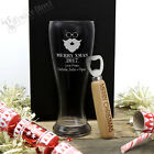Ultimate Christmas Personalised Gift Pack Schooner Glass Bottle Opener Engraved