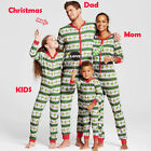 Family Matching Adult Women Kid Christmas Pyjamas Nightwear Pajamas PJs Set Xmas