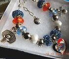 NBA OKLAHOMA CITY THUNDER Crystal European Team Charm Bracelet FREE SHIPPING on eBay