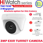 Hikvision HiWatch 3MP THC-T230 IP67 Outdoor EXIR Turret HD Smart IR 40m Camera