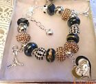 NHL ANAHEIM DUCKS Crystal European Team Charm Bracelet   FREE SHIPPING!!! $35.9 USD on eBay