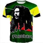 New Fashion Womens/Mens Reggae Star Bob Marley 3D Print Casual T-Shirt