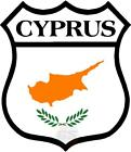 Cyprus Shield World Flag - Decal Printed Sticker (choice Of Sizes)
