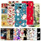 For HTC One 2 M8 M8S M8X Christmas Plastic Case Cover 2018 New Year Tower Cat