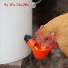 Lot Poultry Water Drink Cups Chicken chick Hen Plastic Automatic Drinker Red GM
