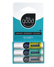 NEW ALL GOOD PRODUCTS LIP BALM SPF 15 ORIGINAL SPEARMINT COCONUT GLUTEN FREE