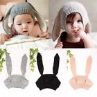 Cute Winter Baby Toddler Boy Girl Knitted Rabbit Crochet Ear Beanie Warm DZ88