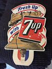 1952 7up Liberty Bell Bottle Topper Ceiling Display Sign