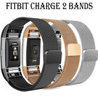 Milanese Loop Stainless Steel band for Fitbit Charge 2-Stronger Magnetic Clasp