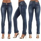 Womens Blue Sexy Low Rise Waist  Ladies Stretchy Denim Jeans Size 6-14