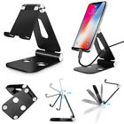 Aluminum Foldable & Adjustable Desk Stand Mount Holder fr Universal Phone Tablet