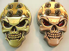 tattoo stainless steel skull foot pedals with silicone lead,weight 300 gramms,