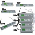 DC 12V Waterproof IP67 Transformer LED Driver High Power Supply Adapter 10W-150W