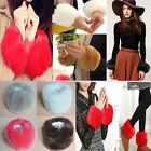 1Pair Women Winter Faux Fur Plush Cuff Oversleeve Wristband  Elastic Foot Gloves