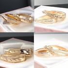 """9ct 9K """" Gold Filled """" Ladies  40mm Oval Hoops Earrings Birthday Xmas Gift E607A"""