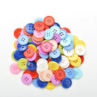 100pcs 4 Holes Mixed Color Round Buttons Fit Sewing and Scrapbook 9~20mm DIY^v^