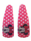 2x Red or Pink Minnie Mouse And Frozen Hair Clips Slide Party Bag Back To School