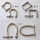 2 Nickel Screw In D Rings Replacement Purse Strap & Knife Dangler Hardware