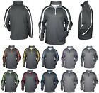 MENS MICROFLEECE LINED, SOFT SHELL JACKET, HOOD, POCKETS WATER REPELLANT, XS-4XL