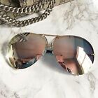 "MIRROR ""Posche"" OVERSIZED Women Sunglasses Aviator Flat Top Square Shadz pink"