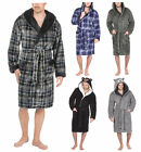 Mens Supersoft Housecoat Fleece Bath Robe Dressing Gown