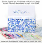 Pocketfold Invitations 16 Colours - Rose/Script DIY Value Wedding Blanks sample