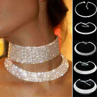 Внешний вид - Women Rhinestone Crystal Diamond Choker Collar Bridal Wedding Necklace Jewelry