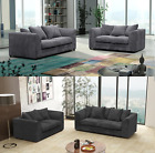 Dylan Byron 3 + 2 Seater Sofa Set Jumbo Cord Fabric Grey Black Chocolate Cream