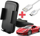 CD Slot Car Phone Holder Mount + Type-C USB Charging for All Cell Phones