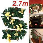 Cream Decorated Garland Christmas Decoration Xmas Fireplace Tree Pine 10FT